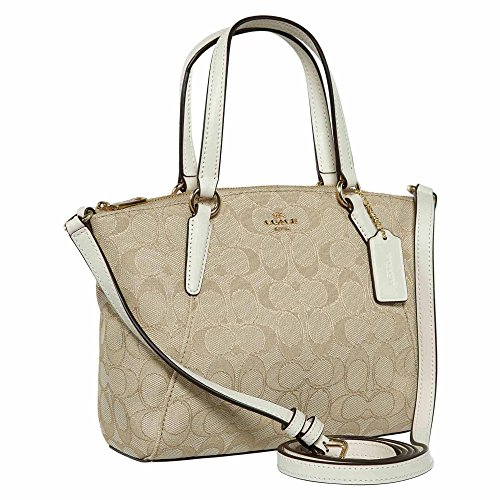 COACH F27580 Mini Kelsey Satchel Signature Crossbody Shoulder Bag CLK $225