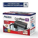Aqueon QuietFlow LED PRO Aquarium Power Filter 75