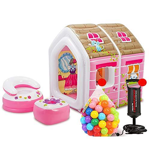 Children's tent Castello Gonfiabile, Tenda per Bambini, Gioco casa Giocattolo Coperta casa Principessa Piscina di Palline Marine