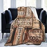 Manta super suave,Botella Copa Vino Bar Uva Merlot Antiguo Restaurante Cabernet Botella,Manta de felpa suaves y esponjosa para sofá cama y sala de estar adecuada para todas las estaciones 200x150cm