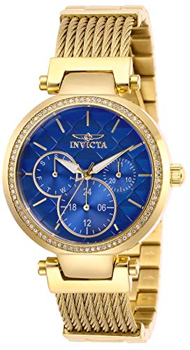 Invicta Women's Angel Quartz Stainless-Steel Strap, Gold, 18 Casual Watch (Model: 28919)