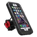 iitrust Funda Impermeable Soporte para Bicicleta Case a Prueba de Agua,Golpes,Polvo,Waterproof Case para iPhone 6 o iPhone 6S,Color Negro