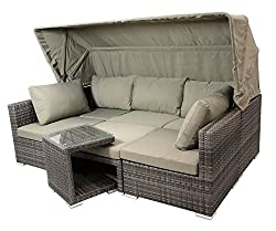 familienliege gartenliege f r mehrere personen gro. Black Bedroom Furniture Sets. Home Design Ideas