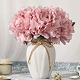 JARELING Artificial Flowers with Vase,Faux Peony Flower in Vase Fake Silk Flower Arrangement Table Centerpieces for Dining Room Home Office Decoration (Pink,Small)