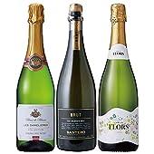 酒のダイナミック 世界三大ワイン生産地 スパークリングワイン 飲み比べ 3本セット