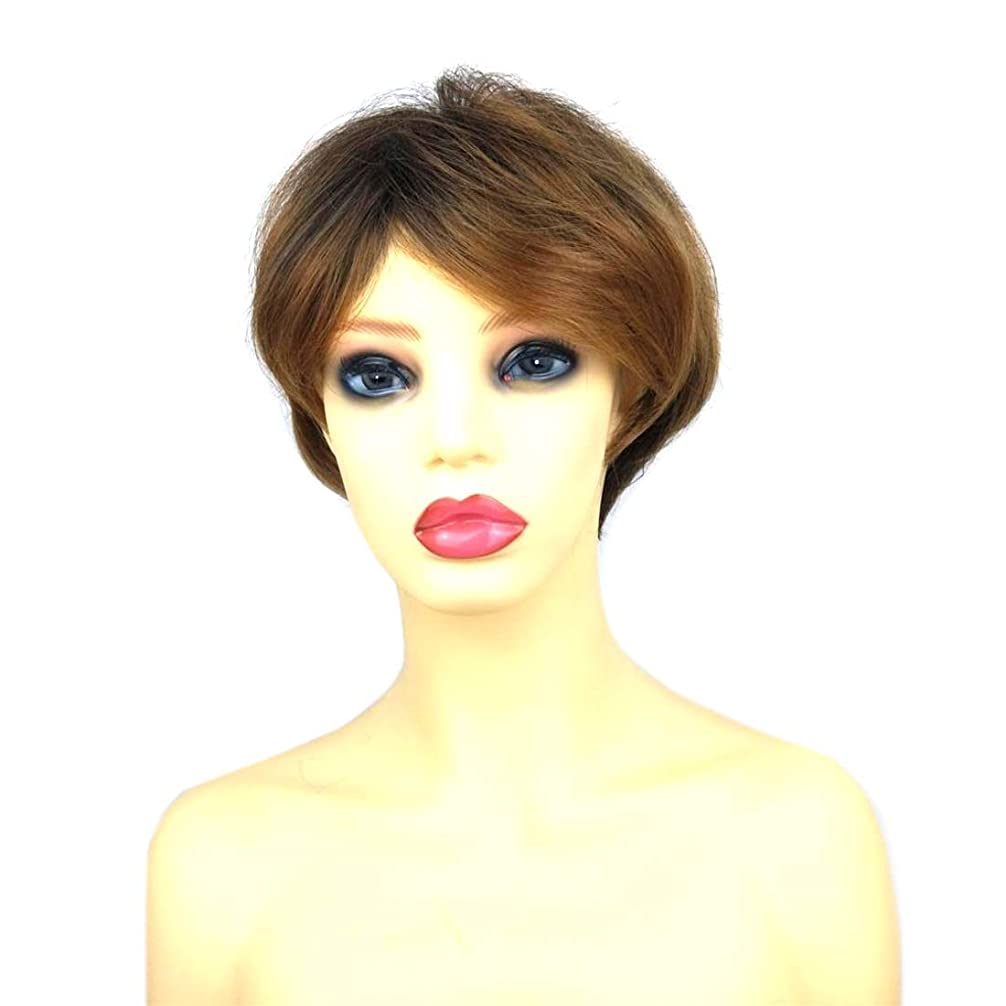 先住民恐ろしい霧Summerys 女性のための短いかつらブロンドボブ髪かつら自然に見える耐熱性合成ファッションかつら
