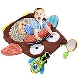 Gloryhonor Cute Cartoon Eule Baby Infant Bauch Zeit Kriechen Matte Game Pad Kissen Spielzeug Spielen, Mehrfarbig, 68cm x 50cm x 0.8cm/26.77' x 19.69' x 0.31'