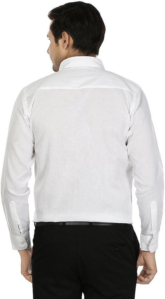 JAINISH Men's Formal Shirt XX-Large White