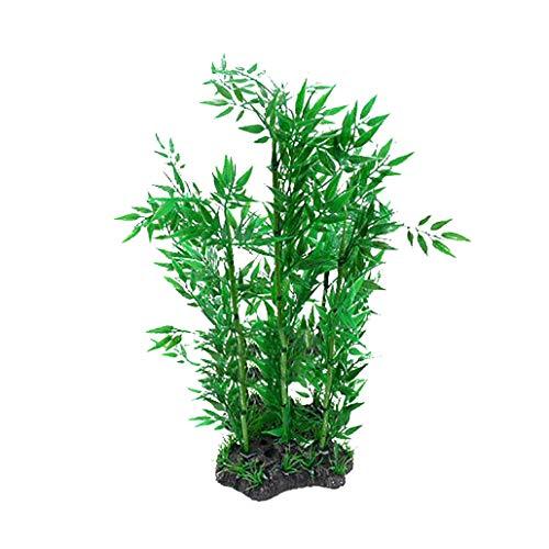 collectsound - Planta Artificial para Acuario, césped, bambú, acuático, plástico, decoración de paisajes, plástico, 2