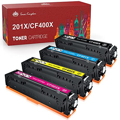 Toner Kingdom Kompatible Tonerkartusche Ersatz für HP 201A 201X CF400A CF400X CF401X CF402X CF403X für HP Color Laserjet Pro MFP M277dw M252dw M277n M252n M277c6 M274n Drucker (4 Stück)