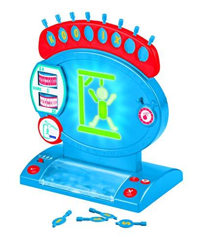 LEXIBOOK ahorcado electrónico, Juego de Mesa Infantil y Familiar, ortografía y Vocabulario, Efectos Luminosos y sonoros, 2 Jugadores, Azul/Rojo (JG800)