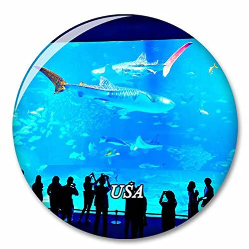 USA Amerika Georgia Aquarium Atlanta Kühlschrank Magnete Dekorative Magnet Flaschenöffner Tourist City Travel Souvenir Collection Geschenk Starker Kühlschrank Aufkleber