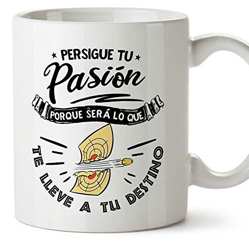"""MUGFFINS Taza motivacional""""Persigue tu pasión porque será lo que te lleve a tu destino"""" - Regalos para Animar y Motivar en el Desayuno"""