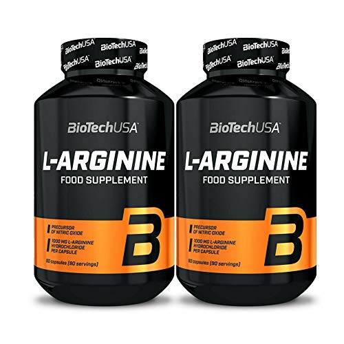 BIOTECH USA L-ARGININE 180 Capsules | 1,650mg Per Serving | Muscle Pumps & Muscle Growth | Food Supplement | NO Booster