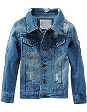 Mallimoda Bambina/Ragazze/Ragazzi Giacca di Jeans Primavera Casuale Giubbotto Denim Cappotto Tops