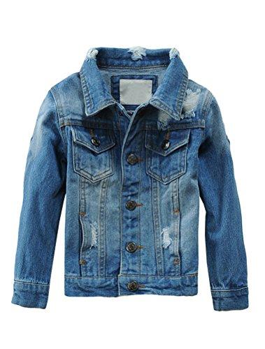 Mallimoda Mallimoda Mädchen Jungen Baby Beiläufig Stilvoll Frühling Herbst Jeans Denim Coats Mantel Kinder Jeansjacke Art 2-Blau 9-10 Jahre/Körpergröße 140-150
