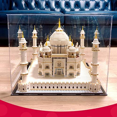 TETAKE Vitrine Staubdicht Display Case für Lego Taj Mahal - 10256 (Nicht Enthalten Lego Modell)