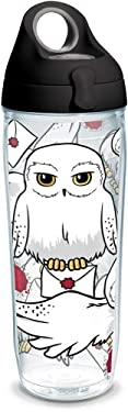 Tervis Harry Potter - Hedwig Insulated Tumbler with Wrap and Lid, 24 oz Water Bottle - Tritan, Clear