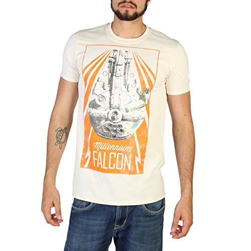 Star Wars Han Solo - New Falcon T-Shirt, Beige (Naturale Nal), XL Uomo