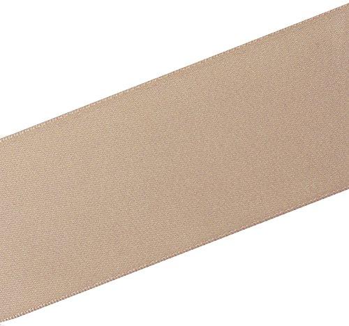 LaRibbons 2 inch Wide Double Face Satin Ribbon - 25 Yard (813-Champange/Vanilla)