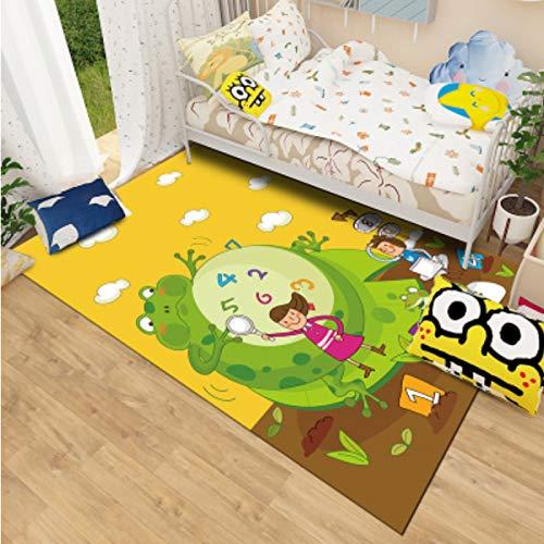 Teppich Kinderzimmer Cartoon Spielteppich Rechteck Küche Nachtbett Erker Rechteckiger Boden Matte Junge...