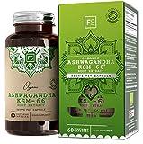 FS Ashwagandha KSM-66 Organica 300mg 60 Capsulas | Extracto de Ashwagandha Capsulas de Alta Potencia | Suplemento de Withania Somnifera (Ginseng Indio) | Soil Association | Sin OGM, Gluten o Lacteos