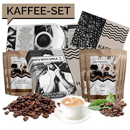 Kaffee Geschenkset Kaffee Geschenkbox 360g Box voller Kaffeesorten aus aller Welt | 6x60g Kaffee Weltreise Geschenkidee für Frauen Männer Kaffeeliebhaber | Kaffeebox Geschenk Box