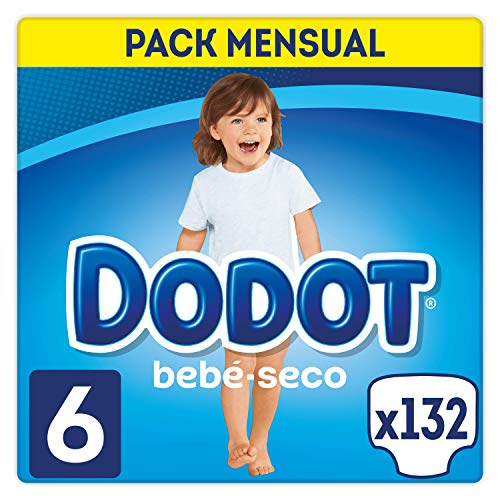 Dodot - Pannolini per bebè, taglia 6, 132 pannolini, con canali d'aria, 13 kg