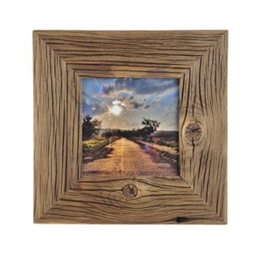 Mein Landhaus Bilderrahmen aus echtem Alt-Holz Stil Vintage, rustikal - handgefertigte Unikate in dunkel-braun 30X40 Leiste 7cm