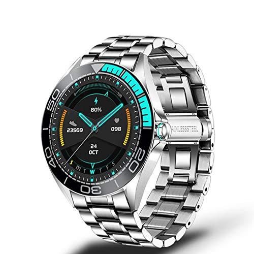 Gulu 2021 Nuevo Reloj Inteligente Hombre Pantalla Táctil Completa Deportes Multifuncionales Ritmo Cardíaco Fitness Relojes Inteligentes Hombres,D