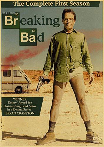 binghongcha Druck Auf Leinwand Vintage Poster Breaking Bad Klassisches Amerikanisches Drama Retro Poster Bar Pub Home Wanddekoration B-289 (50X70Cm) Ohne Rahmen
