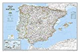 National Geographic: Spain and Portugal Classic Wall Map - Laminated (33 x 22 inches) (National Geographic Reference Map)