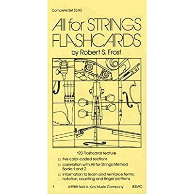 All For Strings - Theory Workbook 1 Flashcards by Gerald E Anderson and Robert S Frost by Neil A Kjos Music Company