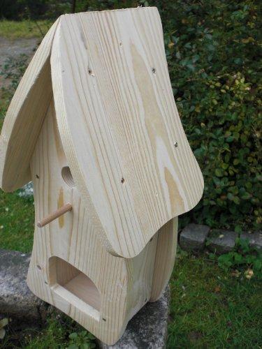 Dekorativer Nistkasten(NB1)-mit Vogelfutterhaus zum selbst bauen-Bausatz-Vogelhaus-Vogelhäuschen-Vogelhaus Garten Deko - 2