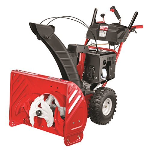 Best snowblower for gravel driveway:Troy Bilt Vortex 2690 Electric Start Three Stage Gas Snow Thrower