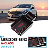 TOOGOO 1 Par Coche Negro ABS Parachoques Trasero Splitter Spoilers Canard para Mercedes para W176 A200 A250 A45 para Amg 2013-2016