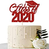 Red Glitter Class of 2020 Cake Topper - 2020 Graduation Party...