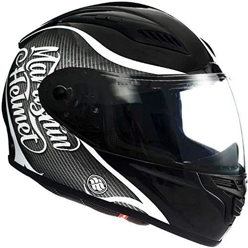 ZHXH Casco de motocicleta cara completa: el casco