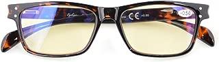 Blue Light Filter Computer Glasses-Yellow Tinted Reading Eyeglasses Men Women