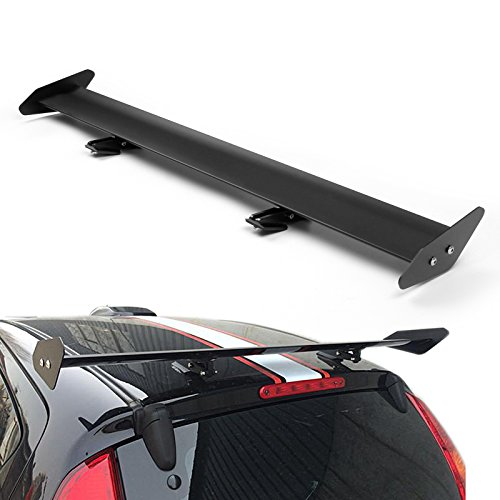Areyourshop - Alettone universale regolabile in alluminio, per auto GT, per bagagliaio posteriore, colore argento