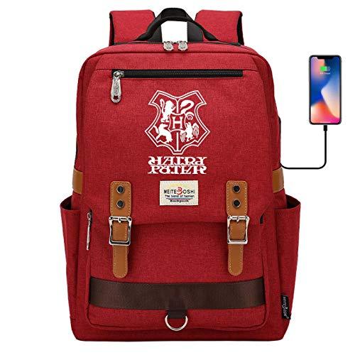 Hogwarts Bag Junior high School Student School Bag School Personality Meal Bag Canvas Bag Large red