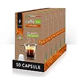 King Cup - 5 Confezioni da 10 Capsule Compostabili di Caffè Biologico & Fairtrade Miscela Intenso, 50 Capsule 100% Compatibili con Sistema Nespresso di Caffè Intenso in Capsula Salva Aroma da 5 Gr