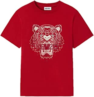 Kenzo Tiger Men's T-Shirt Red White Tiger (Fitted Size)