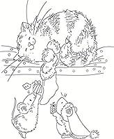 10x8マウスと猫の透明なクリアスタンプDIYスクラップブッキングフォトアルバムカード作成用シリコンシール