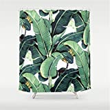 Huisfa Martinique Print Shower Curtain 72 x 72 inches