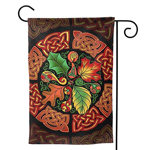TARO Celtic Pagan Fall Harvest Autumn Vintage Seasonal Family Double Sided Garden Flag Outdoor Funny Decorative Flags for Garden Yard Lawn Decor Gift 12.5'X18' 28'X40'