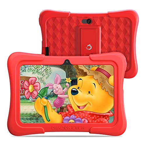 Dragon Touch Y88X Pro 7 inch Kids Tablets, 2GB RAM 16GB ROM, Android 9.0 Tablet, Kidoz Pre Installed with Disney Contents (More Than $80 Value), Red