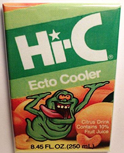 """Hi-C Slimer Ecto Cooler 2"""" x 3"""" Refrigerator or Locker MAGNET Ghostbusters"""