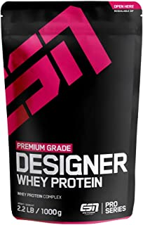 ESN Designer Whey Protein – 1000g – Chocolate – Eiweißpulver reich an essentiellen Aminosäuren (EAAs) – Sehr gut löslich – 33 Portionen – Made in Germany
