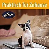 elan ® Hundekissen - hygienische & Bequeme Hundedecke - leicht zu reinigen und rutschfest – atmungsaktives Material - Ideal für unterwegs 70x50cm - 3